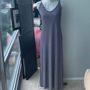 Striped soft cotton maxi dress